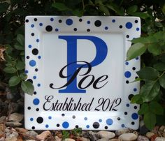 Pottery Plate Paint Ideas | love this plate personalized plate by preppyfarmer on etsy repinned ...