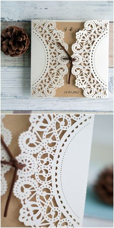 affordable rustic laser cut wedding invitations #elegantweddinginvites