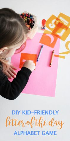 Even at home you can encourage an environment for learning. With fun ideas like this DIY Kid-Friendly Letter of the Day Alphabet Game, you're sure to be inspired with simple and one-of-a-kind ways to work through school activities. Plus, using Elmer's and Sharpie supplies found at Target, you too can get your child in the habit of exercising their memory and brain power!