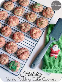 Holiday Vanilla Pudding Cake Cookies + #Giveaway