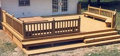 deck bench 2 Cool Deck, Bench Designs, Built In Bench, Screened In Porch, Deck Benches, Building, Outdoor Decor, Home Decor, Garden