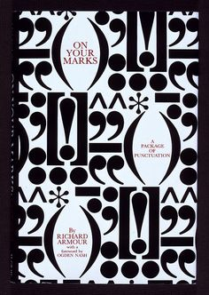 """On Your Marks"" book jacket designed by Herb Lubalin, 1969, via Herb Lubalin Study Center, Flickr."