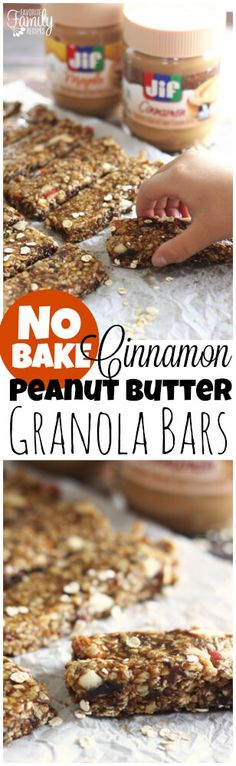 These no-bake cinnamon peanut butter granola bars are a snap to make. Whip them up ahead of time and enjoy as a quick breakfast or mid-morning snack! via @favfamilyrecipz