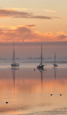 Sunrise over Maldon, Essex, UK