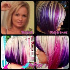 Vivid artistic hair
