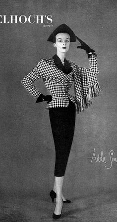 1951 Model in ensemble by Adele Simpson, Vogue