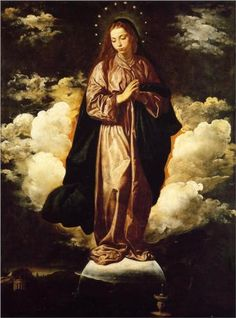 The Immaculate Conception - Diego Velazquez.  He also focused on religious paintings after he moved out of the Royal Family