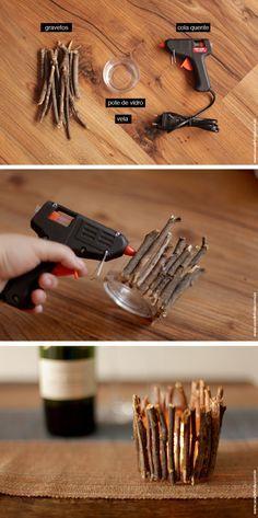 Como fazer um castiçal de outono - DIY - Blog de decoração - Casa de Firulas