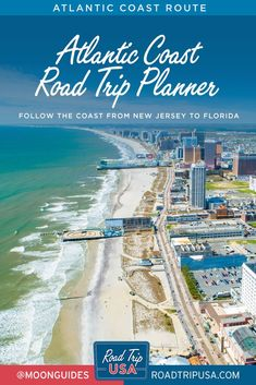 Following our Atlantic Coast road trip route will open your eyes to a whole other world, alternating between wildly differing beach resort areas and lengthy stretches of pristine coastal wilderness. Plan your drive from New Jersey to Florida with helpful maps, historical background, and recommendations for what to do and what to see along the way. East Coast Road Trip, Road Trip Usa, Beach Trip, Beach Travel, Road Trip Planner, West Road, Vacations To Go, Seaside Towns, Ocean City