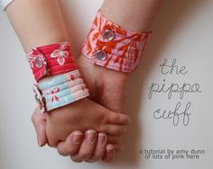 lots of pink here!: the Pippa cuff tutorial