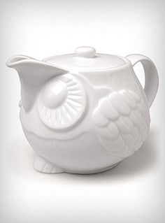 Owls and teapots, two of my favorite things.