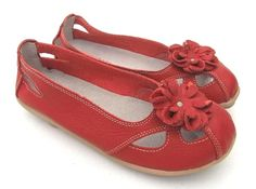 #TAMMY RED LEATHER FLATS   #flat shoes #2dayslook #maria257893 #fashionshoes  www.2dayslook.com