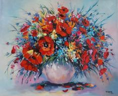 Flower Vase Oil Painting in D&C Art Gallery, Hanoi, Vietnam 80 x 100 cm Flower Vases, Flowers, Hanoi Vietnam, Art Gallery, Wreaths, Oil, Artwork, Handmade, Painting