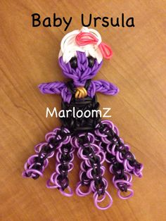 Rainbow loom BABY URSULA (Little Mermaid) Designed and loomed by MarloomZ Creations. 02/14