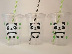 Adding some fun to every party! Panda Birthday Party, Panda Party, Bear Party, 3rd Birthday, Birthday Parties, Panda Baby Showers, Party Buffet, Party Cups, 1st Birthdays