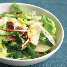 Escarole has a slight, pleasant bitterness balanced by a sweetness. Use it in place of spinach, like in this salad.