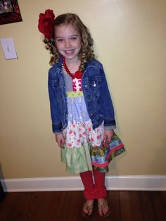 Picture day with our raffle ticket and firecrackers!! Matilda Jane