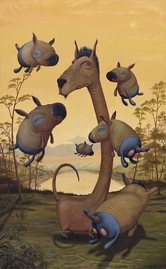 surrealism fantasy characters bizarre funny art painting
