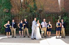Love that everyone is wearing clothing that they can wear again! Red, White, and Blue: A Vintage Americana Wedding