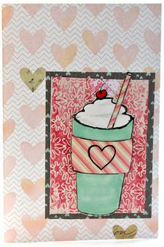 Themed Thursday: Coffee and Tea Cards rubber stamped cards #pwp #paperwingsproductions