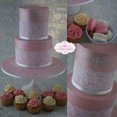 Extended Tier Christening Cake - by cjsweettreats @ CakesDecor.com - cake decorating website