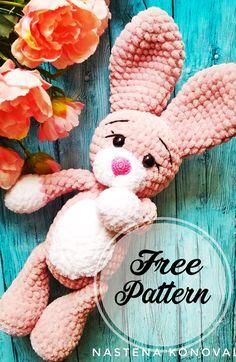 Sweet Free Crochet Amigurumi Cats and Bunny Patterns , amigurumi patterns free; amigurumi for beginners; Crochet Bunny Pattern, Crochet Animal Patterns, Amigurumi Patterns, Amigurumi Free, Easy Knitting Projects, Easy Knitting Patterns, Crochet Projects, Easter Crochet, Crochet Toys