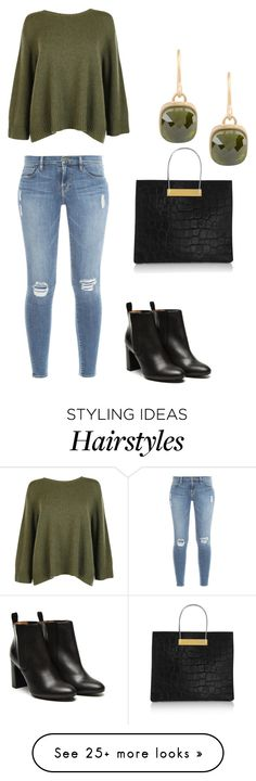 """""""Untitled #2048"""" by janicemckay on Polyvore featuring Frame Denim, The Row, Stephane Kélian, Balenciaga and 8"""