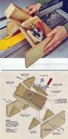 Keyed Miter Joint Sled - Joinery Tips, Jigs and Techniques | WoodArchivist.com