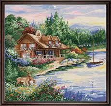Image result for landscape cross stitch patterns free