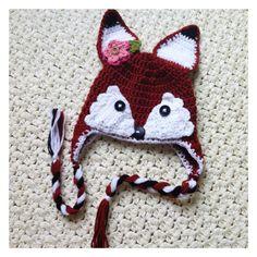 Little fox crochet hat by Thegipsyandtheyarn on Etsy