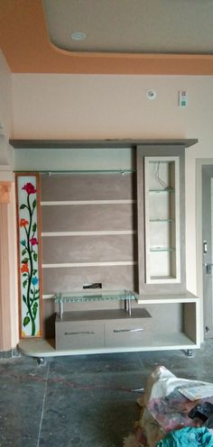 Tv Unit Furniture Design, Tv Unit Design, Bed Furniture, Wooden Main Door Design, Room Door Design, Lcd Panel Design, Double Bed Designs, Modern Tv Wall Units, House Construction Plan