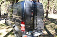 Sprinter Van Convertible Folding Dinette and Bed Roof Ladder, Sprinter Van, Mercedes Sprinter, Adventure Campers, Camper Van Conversion Diy, Portable Toilet, Roof Rails, Cargo Van, Water Systems