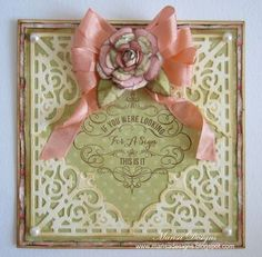 Becca Feeken at Amazing Paper Grace Filigree Corner Dies & Looking for a Sign - JustRite Inspiration