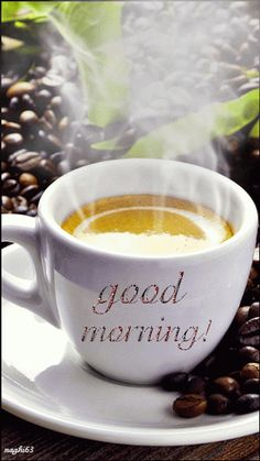 Morning Coffee Gif - Image of Coffee and Tea Good Morning Coffee Gif, Good Morning Picture, Good Morning Messages, Good Morning Greetings, Good Morning Good Night, Morning Pictures, Good Morning Images, Good Morning Quotes, Coffee Break