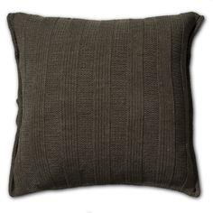 Pillow 50x50 - 6x6Rib AZ green by Knit Factory www.knitfactory.nl