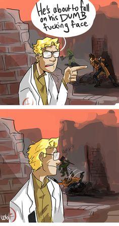 He 'gon fall on his face. Fallout Comics, Fallout Funny, Fallout Art, Fallout 4 New Vegas, Ncr Ranger, Fall Out 4, Comic Panels, Cartoon Memes, Gaming Memes