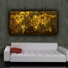 World map art bronze decor pinterest house furniture 64x 30 world map art gumiabroncs Gallery