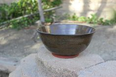 Bowl handmade stoneware salad bowl by BAYCLAY on Etsy