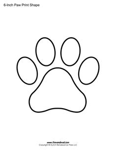 Paw Print Template Shapes
