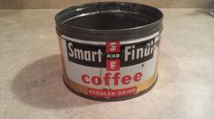 Vintage Smart and Final Coffee Tin by 3LittleWitches on Etsy