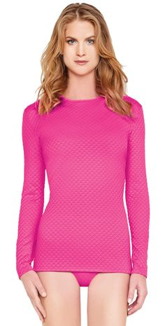 Gottex Diamond In The Rough Pink Rash Guard Top 16DI-652R-650
