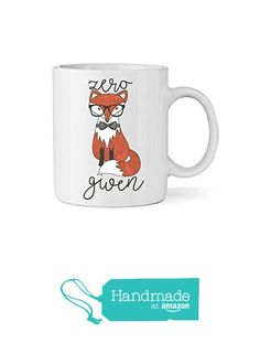 Zero Fox Given Ceramic Coffee Mug - Fox & Clover from Fox and Clover https://smile.amazon.com/dp/B0168LSBAA/ref=hnd_sw_r_pi_dp_JHc8ybD5HJFAC #handmadeatamazon