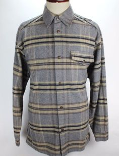 Australian Outback Collection Button Front Shirt Plaid Thick Outdoor size Large #AustralianOutbackCollection #ButtonFront