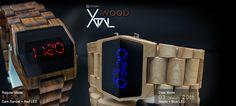 Xtal Wood LED Watch