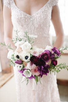 Purple and White Bouquet | photography by http://www.jessiealexisphotography.com