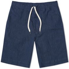 OUR LEGACY RELAXED SHORT Navy Linen