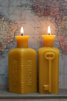 Beeswax Candle Collection Lg Poison & Keythedral by pollenArts, $40.00