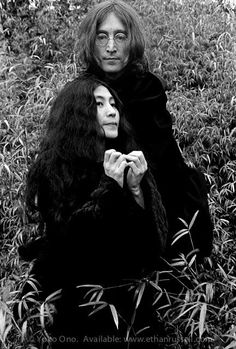 """John Lennon and Yoko Ono """"Capes"""" © Ethan Russell 1968"""