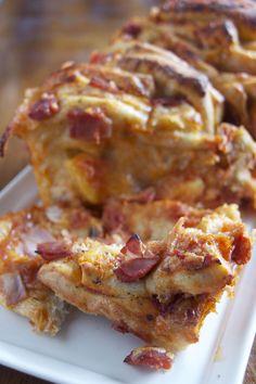 Ham & Pineapple Pizza Pull Apart Bread | Red Star Yeast
