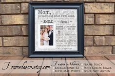 Items similar to Mother of the Bride Gift, Mom of Bride Gift, Mother Wedding Gift, Mom Thank You Gift, Personalized Mother Wedding Gift- Framedaeon on Etsy Thank You Gifts, Gifts For Mom, Bride Gifts, Wedding Gifts, Creative Mother's Day Gifts, Photo Window, I Love You Mom, Wonder Quotes, Wedding Frames